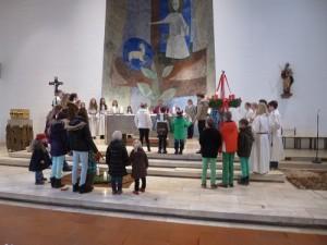 Rott Kinderkirche Familienmesse Adventskranz 2014